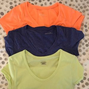 3 ruched shirts (Athleta and Zella brands)